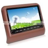 High quality HD Car mp4 player download taxi headrest / lcd bus video advertising player