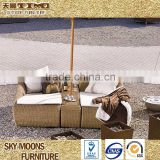 relax modern rattan sun lounger for two people luxury chaise lounge(L010)