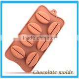 Coffee Bean Silicone Cake Mould Silicone Coffee Bean Chocolate Mould Cookie Mould