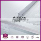 U lock Polycarbonate Sheet PC Multiwall Hollow Jointed Panels UV Coating Anti-leaking For Roofing 100% Lexan Raw Material