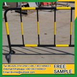 Temporary removable garden fence barrier for crowd control
