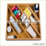 Oddly Shaped Bamboo Drawer Organizer/Homex_BSCI