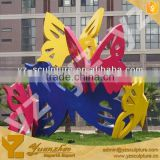 colorful butterfly animal stainless steel sculpture SWA178