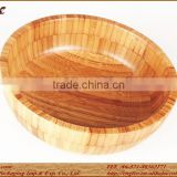 Environment-friendly And Extra-large Bamboo Salad/Soup Bowl For Promotion