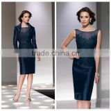 navy blue satin lace prom casual dress for beach party