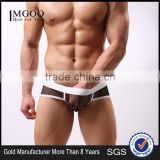 MGOO New Arrival Band Mens Sexy Mesh Brief Short For Gays Transparent Jocks Thongs MB018