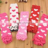 Wholesale Baby Ruffle Heart Pattern Kids Lovely Leg Warmers