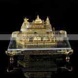 INQUIRY about India 24K gold Plated Crystal Golden Temple Model, crystal Sikhism souvenir gift JC-TG 01