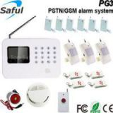 PSTN+ GSM LCD screen doorbell GSM door alarm system Saful PG3