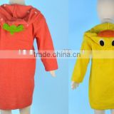100 percent cotton children hooded bathrobes, kids hooded bathrobes