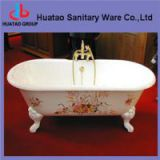 cast iron bathtub with feet