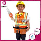 Wood cutter orange suits boy costumes with axe