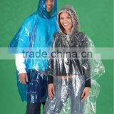 High quality china supply promotional disposable waterproof clear plastic poncho rain coat