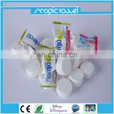 Facial Tissue Type and Home Application Compressed Napkins in Candy wrapper pack compressed facial tissue