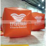 2015 inflatable cube buoy with orange colour for swim event