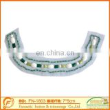 acrylic bead neck collar with bead piece for fashion garments clothing