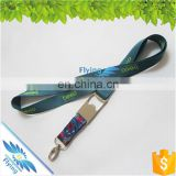 customized color print lanyard heat transfer lanyard cell phone strap with keychain hook
