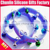 2013 Jingle Bell for Christmas Silicone Bracelets