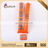 New design eco printed PE inflatable clapper sticks cheap wholesales manufacturer