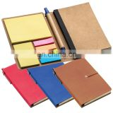 multi functional cardboard notebook with memo sticky notepad and paper ball pen NOTEBO914