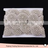 Factory supplier newest originality beads crystal pearls rhinestone belt for wedding dress