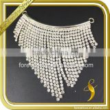 Fashion iron on neckline rhinestone diamond welding clear crystal women collar for garment FB-078