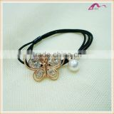 Korean Fancy Crystal Butterfly Elastic Hair Band For Girls