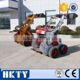 Used Mini Skid Steer Loader Tractor With Snow Blade
