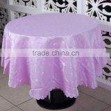 "120"" Round Wedding Jacquard Table Cloth , Customized Table Cover"