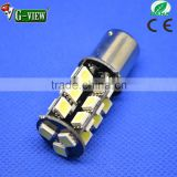 High brightness 1157 base 12v 27smd 5050 led 1156 led car lamp canbus with one year warranty