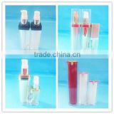 Luxury acrylic cosmetic cream bottle container / good quality empty plastic acrylic cosmetic bottle with sprayer pump