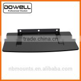 Economy set top box supporting glass shelf DVD wall mount