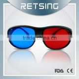 Plastic red cyan 3D glasses for PC/Magazine/Books
