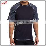 New design high quality body dry fit running shirts sports t-shirt for men