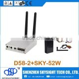 D58-2 5.8Ghz 32CH Wireless AV FPV Diversity Receiver with SKY-52W 5.8G 2W A/V video Transmitter (1 gram fpv camera module
