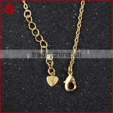 18 Inch 14K Jewelry Necklace Oval Link Gold Color Cable Chain With Lobster Clasp from Chinese Factory