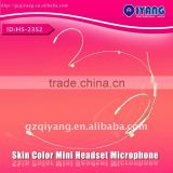 Wholesale and retail HS-23S2 series skin color mini double ear hanging profesional headset microphone