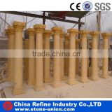 yellow natural stone column pillars,greek corinthian columns