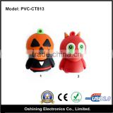 2015 Hot Selling Halloween Style PVC Pumpkin 1GB 2GB 4GB 8GB 16GB 32GB 64GB Usb Stick for promotional gift(PVC-CT813)