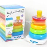 Educational baby toys plastic stacking rainbow ring , stacking game toys for Wholesale for children, EB033106