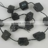 wholesale black tourmaline rough tumble beads in loose gemstone