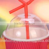 plastic dome lids for icecream cup