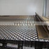 Crimped Plain Woven Mesh for Mine Sieving and Crushers,Galvanized Steel Crimped Wire Mesh