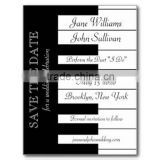 Personalized & romantic black & white piano keyboard music themed wedding invitations