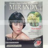 Miranda Noni Extract Hair Color Shampoo / Hair Dye Colour Shampoo/Permanent Hair Dye Color For Women