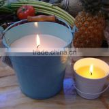 wholesale scented paraffin wax candle in travel tin