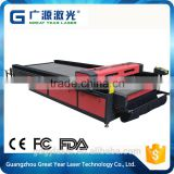 China supplier wood/acrylic/organic glass/MDF/PVC laser cutter, flat bed laser cutting machine price