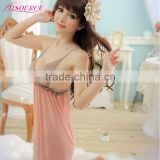 Korean Lace Sex Lady Hot Transparent Chinese Girl Nightwear