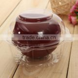 2015 New 100pcs/lot Clear Plastic Single Cupcake Cake Case Muffin Dome Holder Box Container