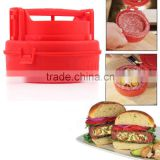 Free shipping 1pcs Stuffed Burger Press Hamburger Grill BBQ Patty Maker Juicy As Seen On TV Hot Worldiwde